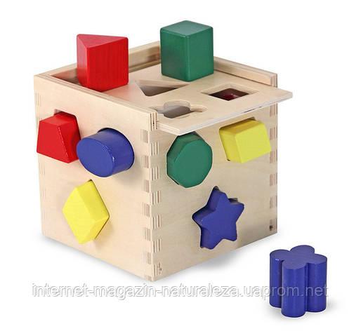 Игрушка деревянная Сортировочный куб ТМ Melissa&Doug, фото 2