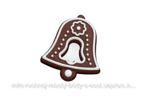 Пластиковая форма для мыла Пряник (Колокольчик)