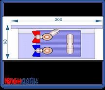 Внутрипольный конвектор Radopol KV 14 250*1250