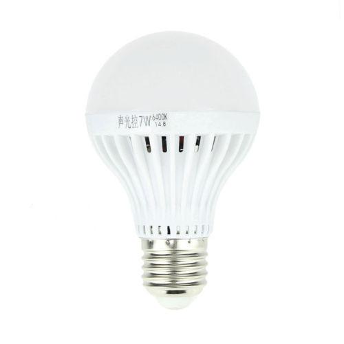 Лампы с датчиком звука и освещенности