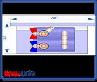 Внутрипольный конвектор Radopol KV 14 250*1500, фото 1