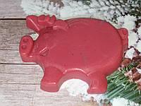 Натуральное мыло кабанчик, вес 220 г. Крутой подарок к новому году.