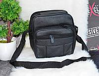 Мужская черна сумка на ремне , фото 1
