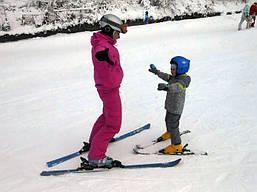 Обучение. Катание на горных лыжах
