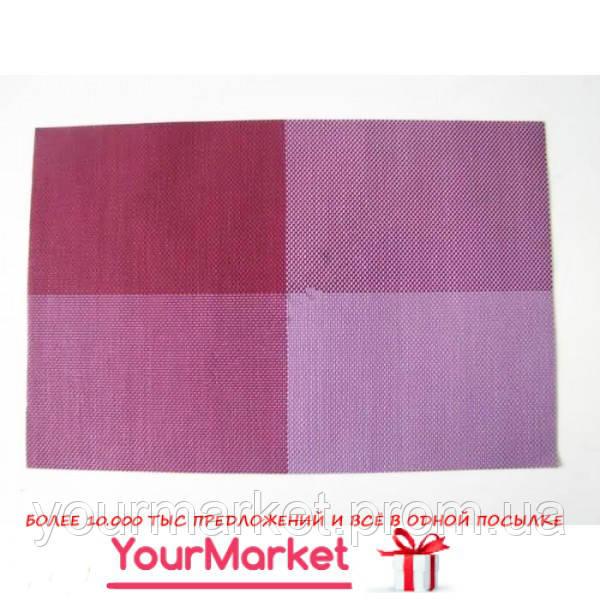 Салфетка под тарелки Клетка 45х30 см фиолетовая 16397VT