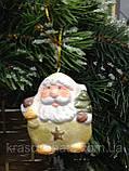 Керамическая фигурка, подвеска,  Дед мороз, 6,5х5 см, Новогодние сувениры, Днепр, фото 2