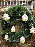 Керамическая фигурка, подвеска,  Дед мороз, 6,5х5 см, Новогодние сувениры, Днепр, фото 3