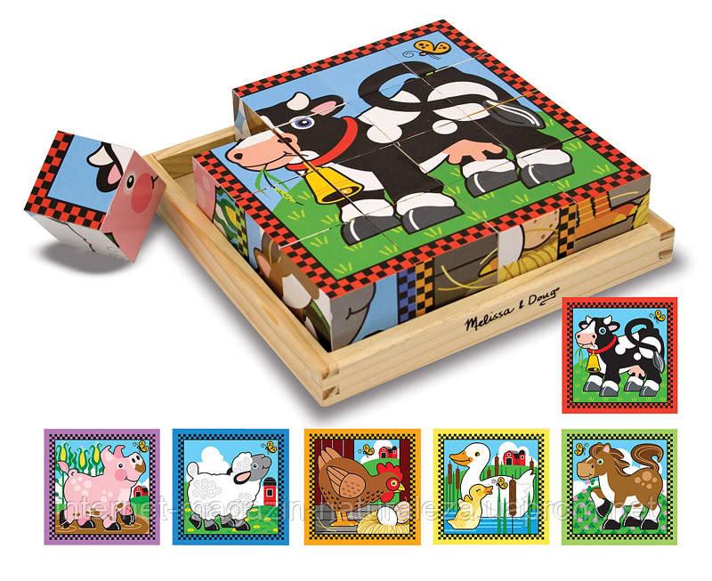 Игрушка деревянные кубики Ферма Melissa&Doug