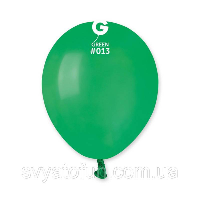 """Латексные воздушные шарики 5"""" пастель 13 темно-зеленый Gemar"""