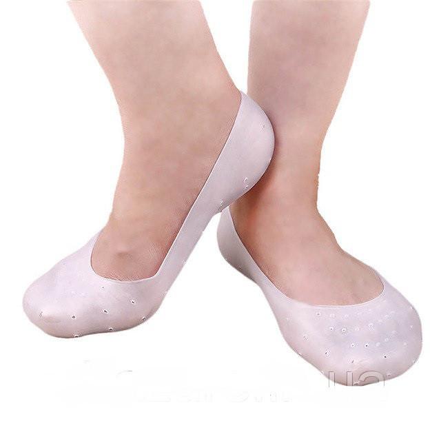 Не скользящие дышащие силиконовые носки полной длины anti-crack silicon socks