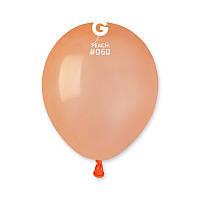 """Латексные воздушные шарики 5"""" пастель 60 персиковый, Gemar"""