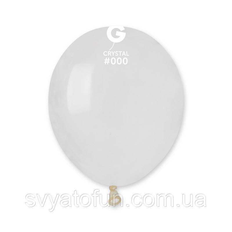 """Латексные воздушные шарики 5"""" пастель 00 прозрачный Gemar"""