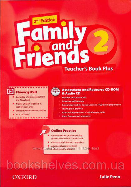 Family and Friends 2nd Edition 2 Teacher's Book Plus + CD-ROM + Audio CD
