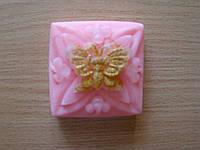 Мыло с розовой глиной натуральное ручной работы