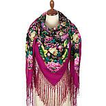 Диво дивное 1798-6, павлопосадский платок (шаль) из уплотненной шерсти с шелковой вязанной бахромой, фото 2