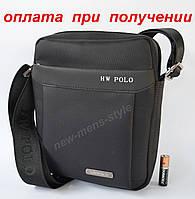 Чоловіча через плече тканинна сумка слінг рюкзак барсетка Polo купити, фото 1