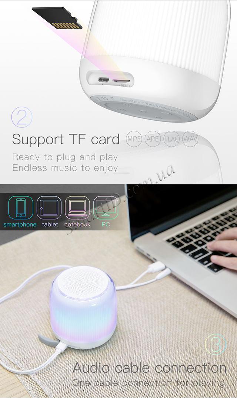 Неоновая Bluetooth колонка Baseus Encok E01