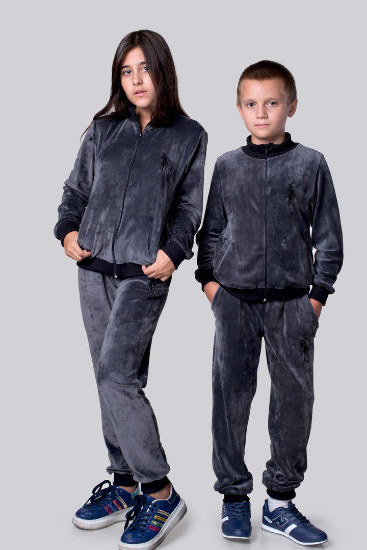 Детский велюровый костюм Polo турецкий плюшевый!!! велюр высокого качества, эмблема POLO на кофте и брюках