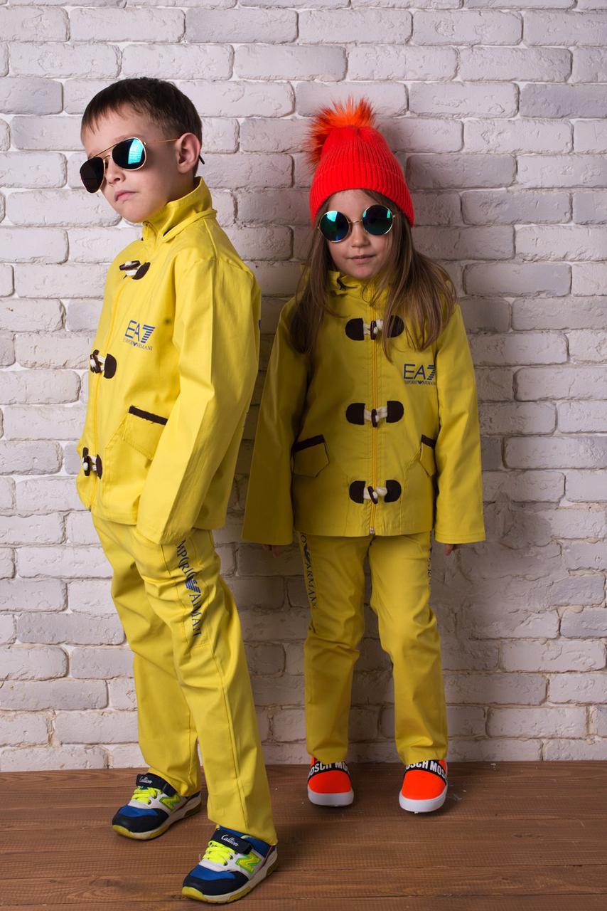 Детский стильный, дизайнерский весенне-осенний комплект Аrmani ткань - шикарная парка-коттон.Девочка-мальчик