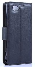 Кожаный чехол-книжка для Sony Xperia Z1 Compact d5503 белый, фото 2