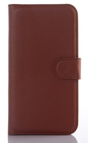 Чехол-книжка для Samsung Galaxy S5 mini G800 коричневый, фото 2