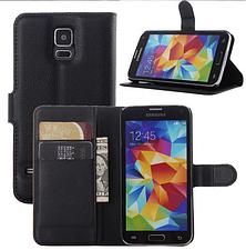 Чехол-книжка для Samsung Galaxy S5 mini G800 коричневый, фото 3