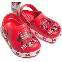 Детские летние сабо Минни Маус (Minnie) на девочек р. 22,26-32 ТМ ARDITEX Красный WD12044