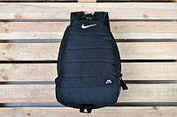 Рюкзак спортивный NIKE Кожаное дно черный с черным Nke air ранец