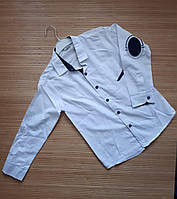 Белая школьная рубашка для мальчика 10-13лет. Турция. Оптом (7105) dfa85f8182742