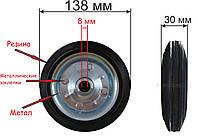 Колеса для візка 138 мм (метал), фото 1