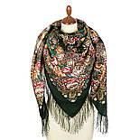 Цветочные бусы 1797-9, павлопосадский платок шерстяной  с шелковой бахромой, фото 2
