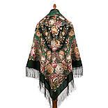 Цветочные бусы 1797-9, павлопосадский платок шерстяной  с шелковой бахромой, фото 3