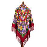 Цветочные бусы 1797-5, павлопосадский платок шерстяной  с шелковой бахромой, фото 3