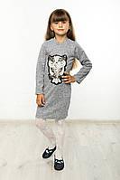 Платье детское Софи сова №3 серый, фото 1