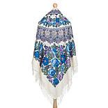 Молитва 353-2, павлопосадский платок шерстяной  с шерстяной бахромой, фото 3