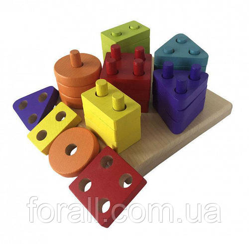 Геометричний сортер квадрат - Cubika №13814