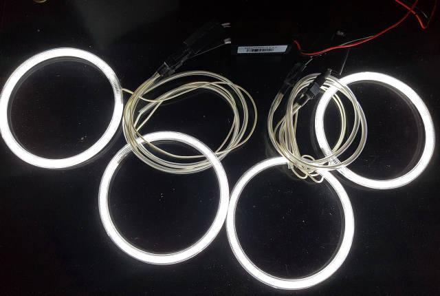Ангельские глазки (4*120 мм) CCFL для BMW E30 белые, фото 2