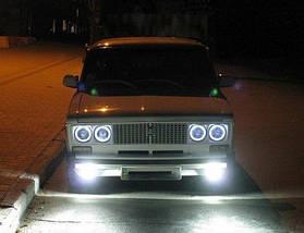 Ангельские глазки (4*120 мм) CCFL для ВАЗ 2106 белые, фото 2