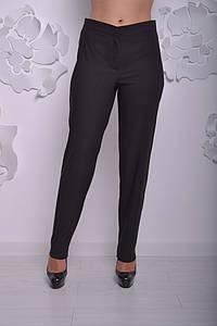 Черные женские брюки большого размера с высокой посадкой 52-64 р