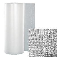 Воздушно-пузырчатая пленка МПО-Д45, ширина 1,5 м (рулон 25м), диаметр пузырька 10 мм.
