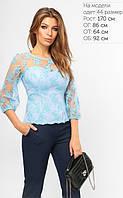 Нежная гипюровая блуза корсетного кроя 42-48р, фото 1