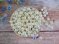 Жемчуг дорогой искусственный, 10 мм, цвет кремовый, 10 грамм, (~20 шт).