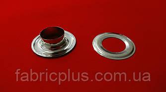 Люверс + шайба  Ф=16 мм, никель (31х17х9)