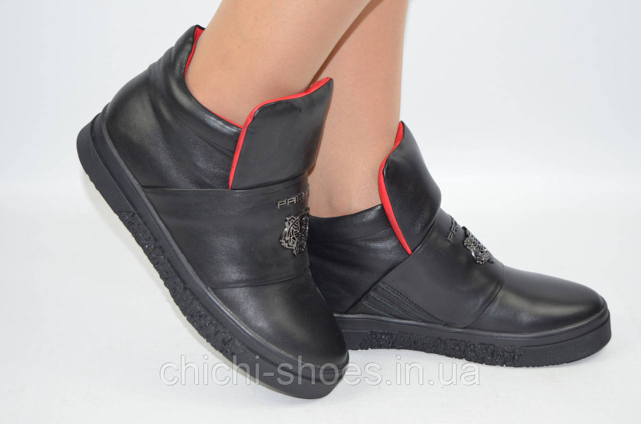 Ботинки женские зимние Carlo Pachini 2573-14 чёрные кожа низкий ход