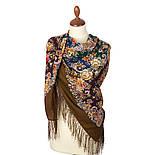 Услада 1726-16, павлопосадский платок шерстяной с шелковой бахромой, фото 3