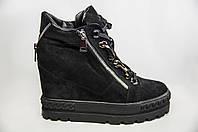 Ботинки женские демисезонные Terra Grande 22011 чёрные замша