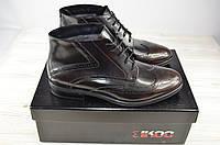 Ботинки мужские зимние IKOS 3552-2 чёрные кожа, фото 1