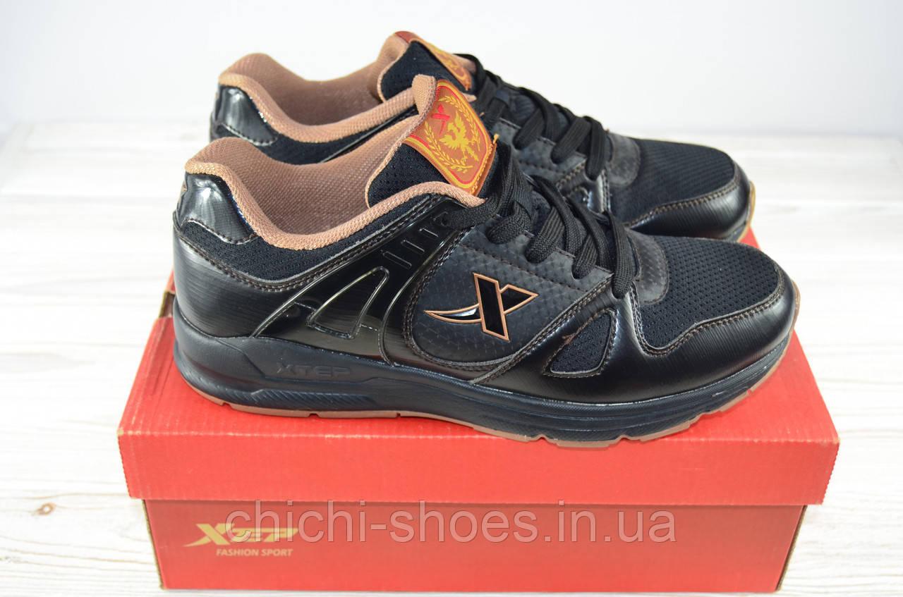 Кроссовки мужские X-TEP 21691 чёрные ПВХ + текстиль