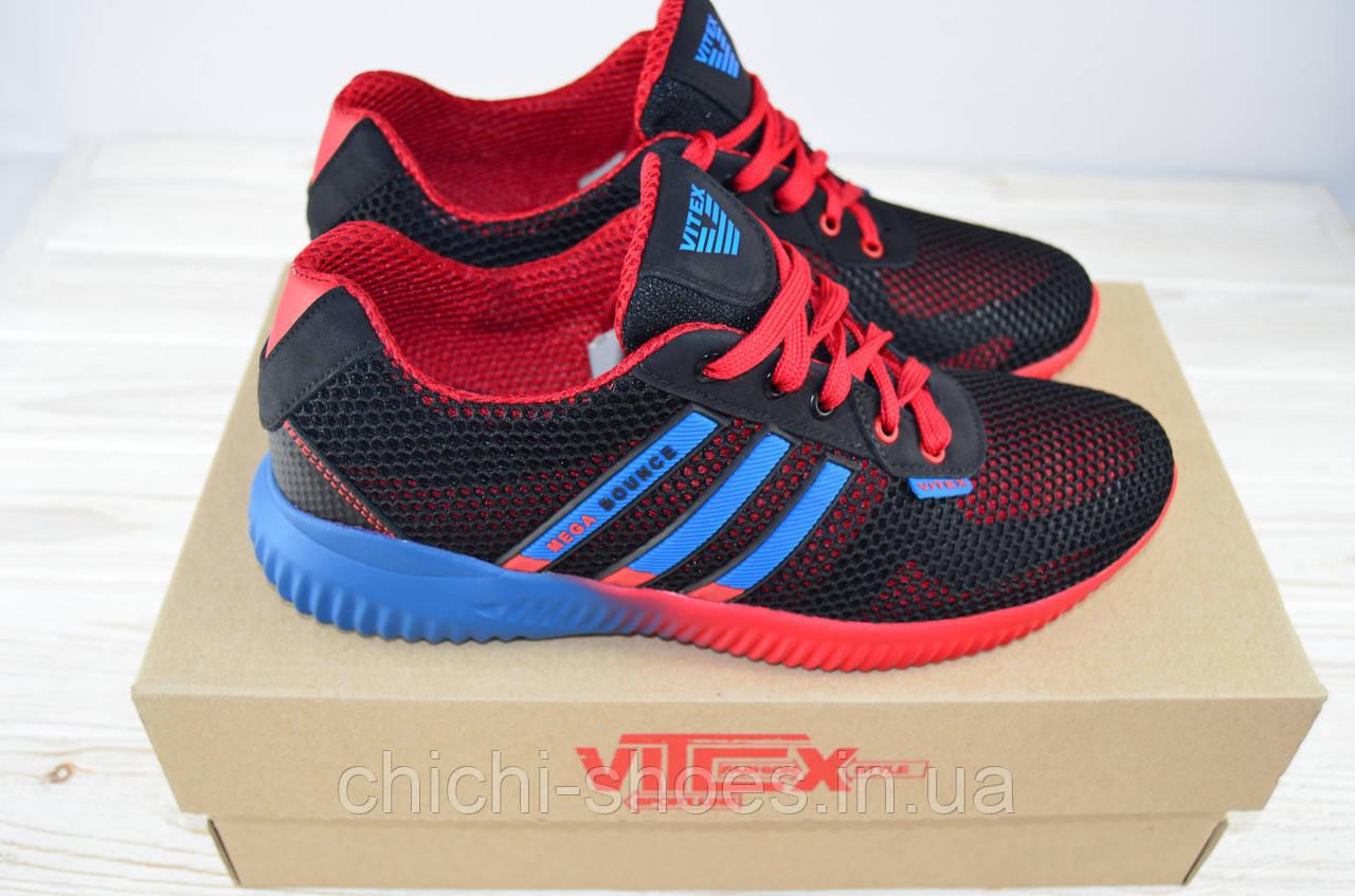Кроссовки мужские Vitex 10104 сине-красные текстиль