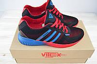 Кроссовки мужские Vitex 10104 сине-красные текстиль, фото 1